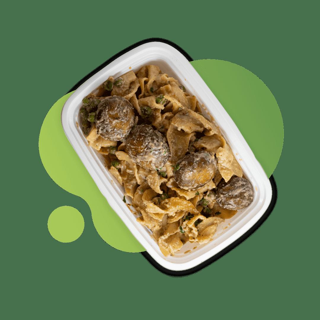 Vegan Roasted Mushroom Stroganoff with Egg Noodles