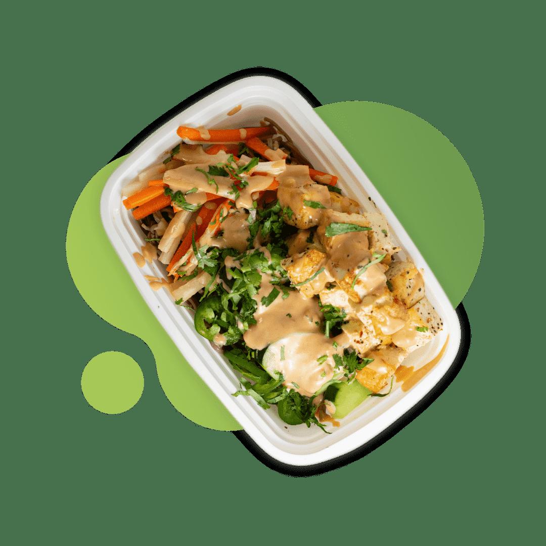 Vegan Banh Mi Noodle Cold Salad with Tofu & Daikon