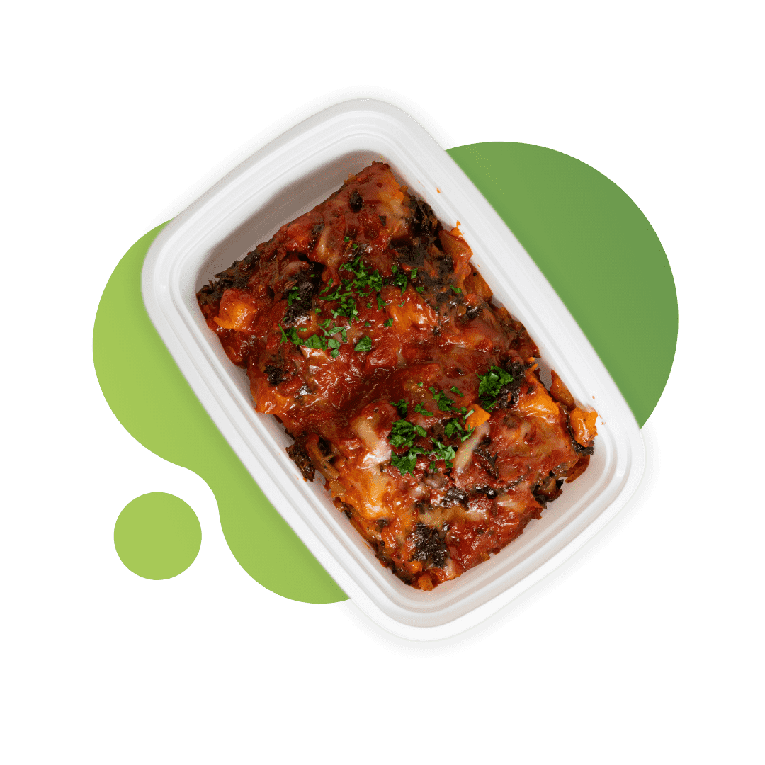Vegan Veggie Lasagna with Sweet Potato & Vegan Mozzarella